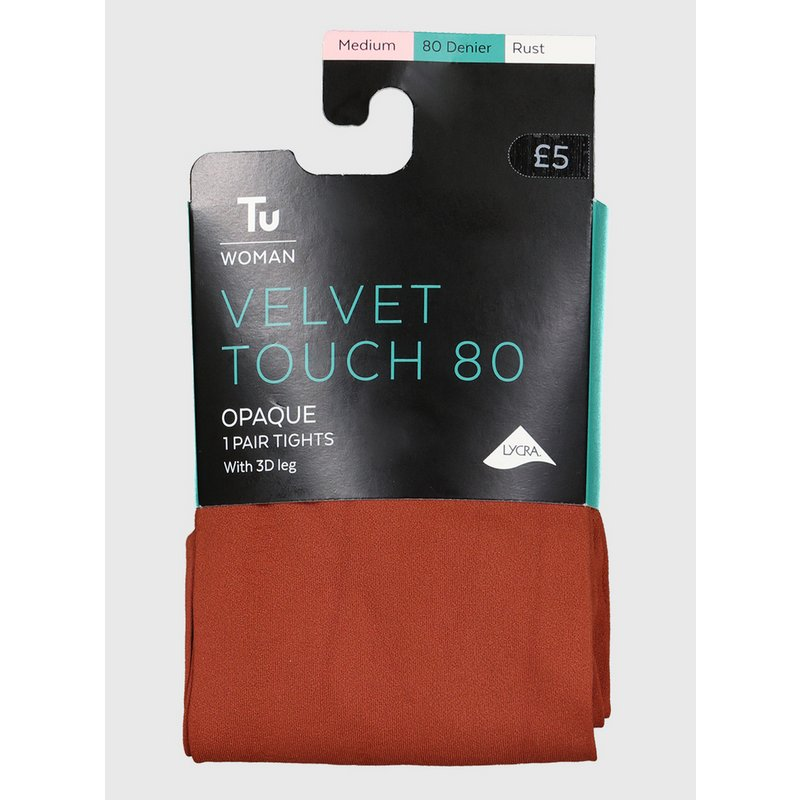 Mustard Velvet Touch 80 Denier Tights from Argos