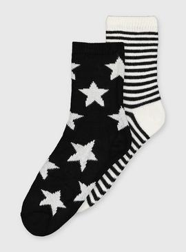 Star & Stripe Thermal Socks 2 Pack - 4-8