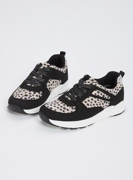 Leopard Print Chunky Trainers