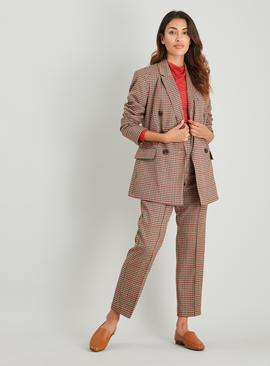 Caramel Check Trousers