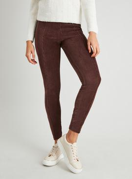 Brown Corduroy Leggings