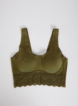 Green Lace Underband Invisible Bralette
