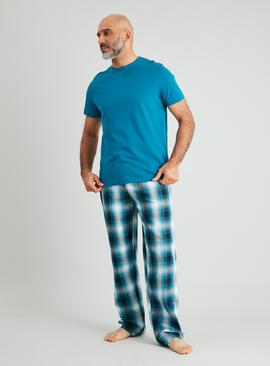 Teal & Check Full Length Pyjamas