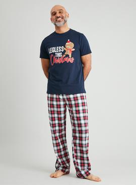 Christmas Family Dressing Navy Gingerbread Pyjamas