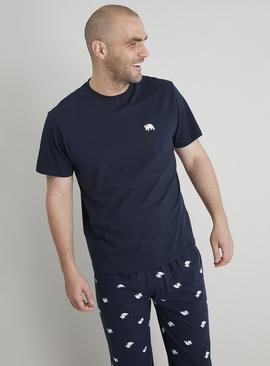 Christmas Blue Polar Bear Print Pyjamas