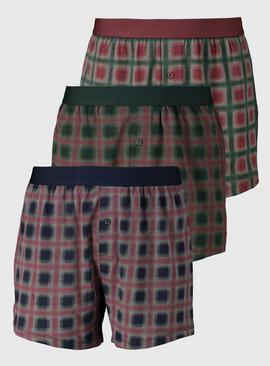 Lodge Check Jersey Boxers 3 Pack