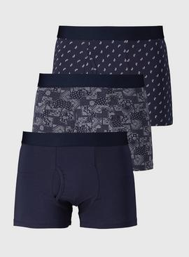 Navy Paisley Trunks 3 Pack