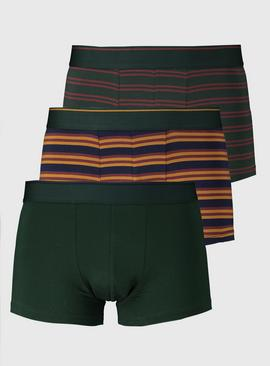 Green & Ochre Rugby Stripe Hipster 3 Pack