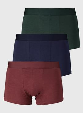 Red, Green & Navy Hipsters 3 Pack