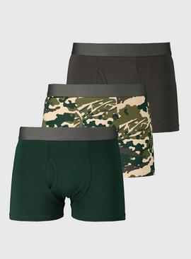 Green Camouflage Trunks 3 Pack