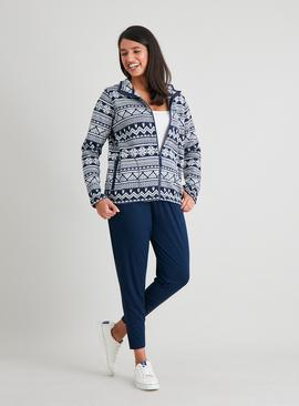 Navy Fair Isle Fleece
