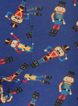 Christmas Blue Nutcracker Print Trunks