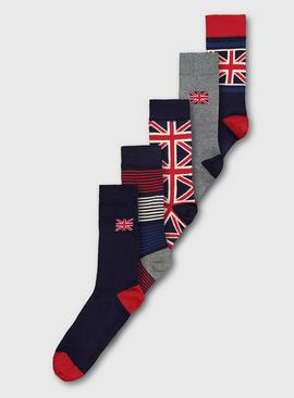 Union Jack Stay Fresh Socks 5 Pack