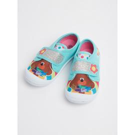 Hey Duggee Blue One Strap Canvas Trainers