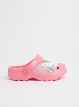 Pink Unicorn Clogs