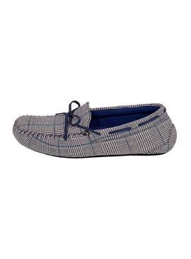Grey Check Pillowstep Moccasin Slippers
