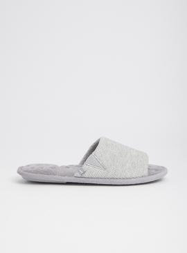 Grey Waffle Pillowstep Slider Slippers