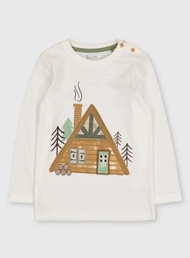 Log Cabin Graphic Top
