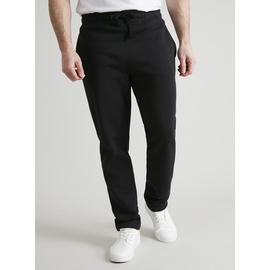 Black Regular Fit Cotton-Rich Joggers