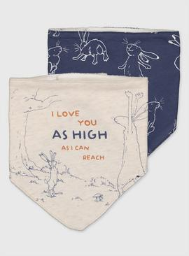 Guess How Much I Love You Hanky Bib 2 Pack - One Size