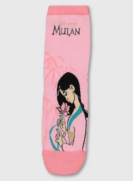 Disney Mulan Pink Ankle Socks - 4-8