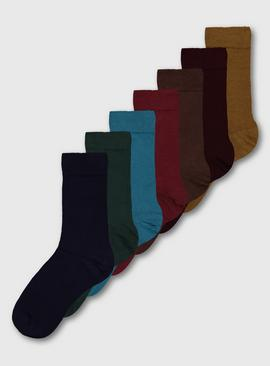 Autumnal Tones Stay Fresh Socks 7 Pack