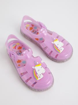 Pink Unicorn Jelly Sandals