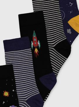 Space Design Stay Fresh Ankle Socks 5 Pack