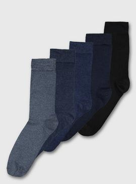 Blue Stay Fresh Socks 5 Pack