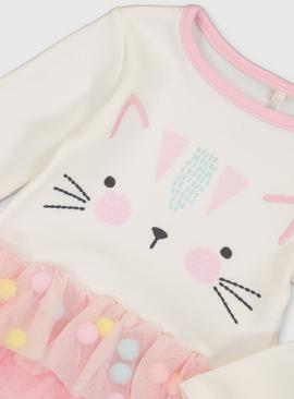 Pink Cat Tutu Bodysuit & Tights