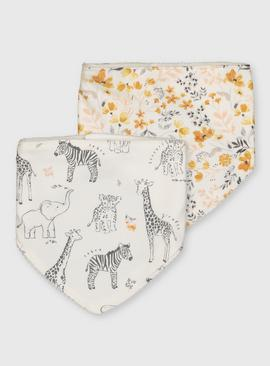 Wilderness Print Hanky Bibs 2 Pack - One Size