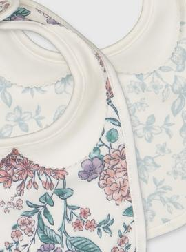 Floral Print Bibs 2 Pack - One Size