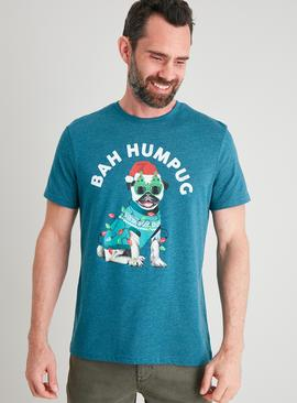 Christmas Blue 'Bah Humpug' T-Shirt