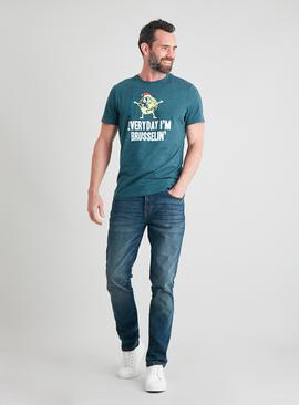 Christmas Green 'Brusselin' Slogan T-Shirt