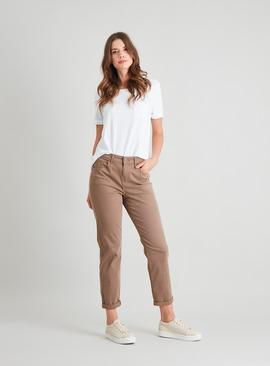 Stone Twill Girlfriend Jeans
