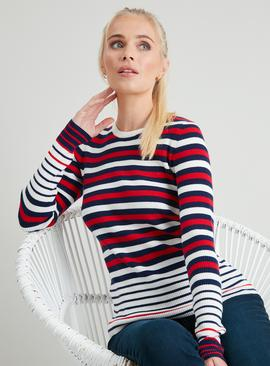 Red, White & Blue Striped Jumper
