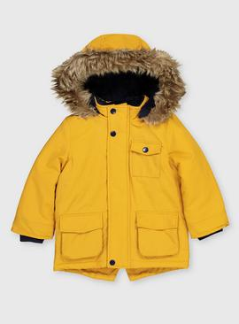 Mustard Shower Resistant Hooded Parka