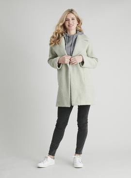 Pale Green Crombie Coat