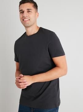 Washed Black Crew Neck Tall Fit T-Shirt