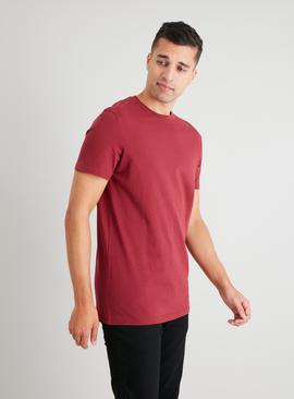 Dark Red Crew Neck Tall Fit T-Shirt