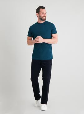 Dark Teal Cotton Tall Fit T-Shirt