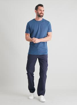 Blue Cotton Tall Fit T-Shirt