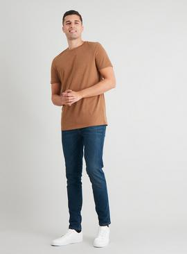 Tan Crew Neck Tall Fit T-Shirt