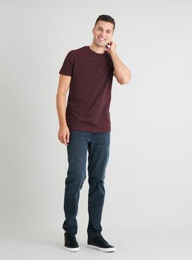 Oxblood Cotton Slub Tall Fit T-Shirt