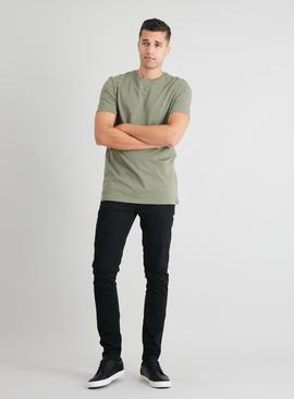 Khaki Cotton Slub Tall Fit T-Shirt
