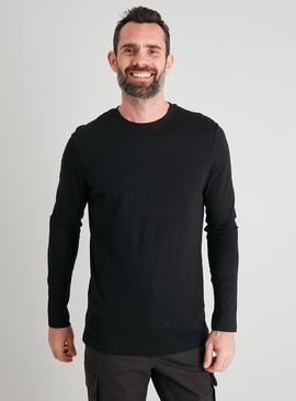 Black Tall Fit Long Sleeved Top