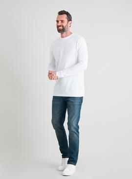 White Crew Neck Tall Fit Long Sleeve Top