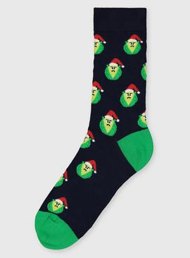 Christmas Santa Sprout Ankle Socks - 6-11