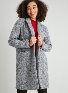 Grey Single Button Crombie Coat