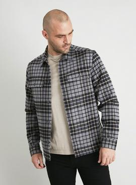 Grey Check Overshirt